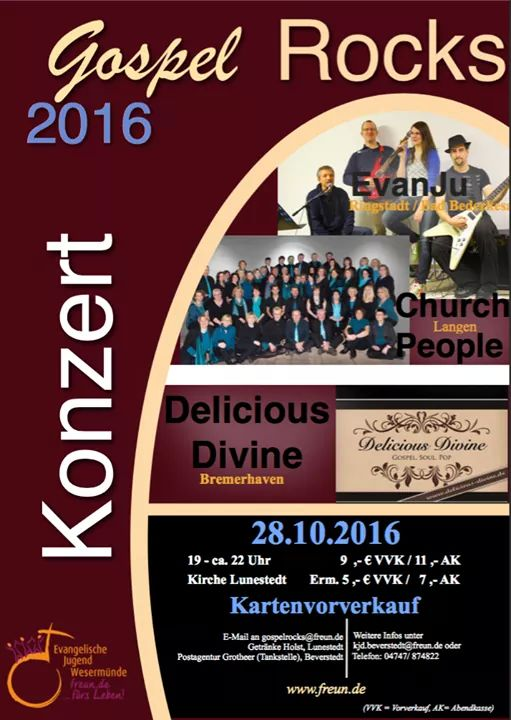 Gospel Rocks in Lunestedt am 28. Oktober 2016